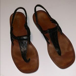 Cole Haan Leather Thong Sandals